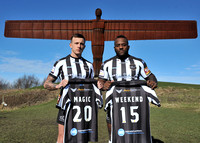 Widnes Vikings Sir Bobby Robson Foundation shirt launch.